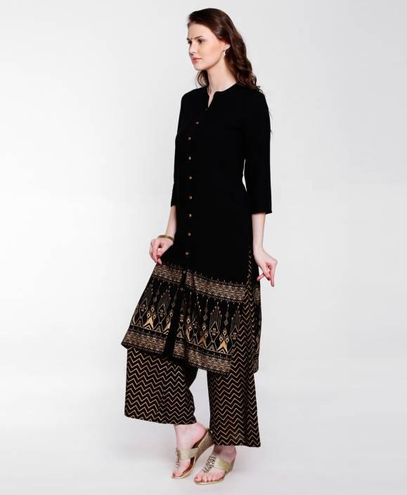 9ff489c414820 FBB - Srishti Women Printed A-line Kurta - Buy FBB - Srishti Women ...