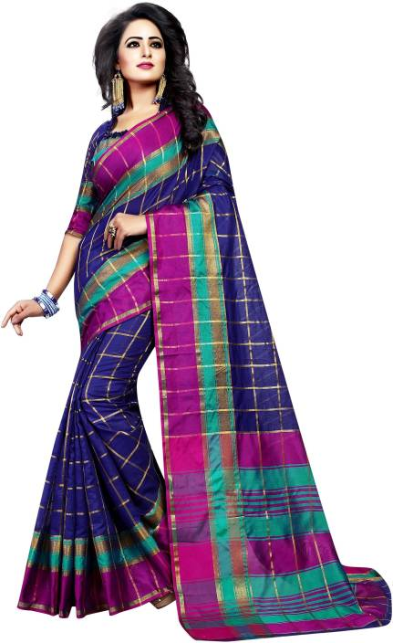 FabTag - Anugrah Textile Self Design Kanjivaram Cotton, Silk, Crepe Saree