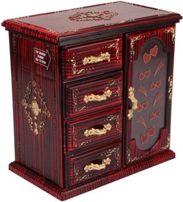 9d3099ae0 Tuelip Single Door-Cupboard Design Jewellery & MakeUp Vanity Box (Red Ross)