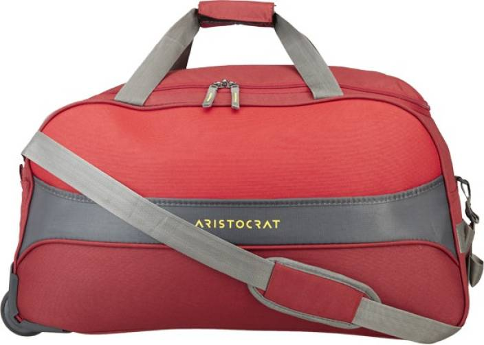 0a18e9bad8df Aristocrat DRAFT DFT 65 RED Duffel Strolley Bag Red - Price in India ...