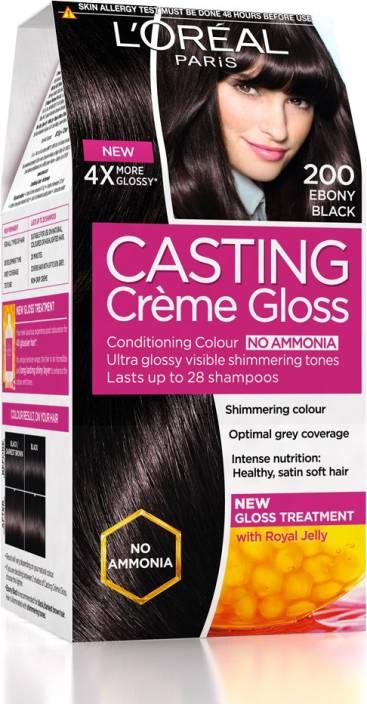 71ed2be78 L Oreal Paris Casting Creme Gloss Hair Color (Ebony Black 200)