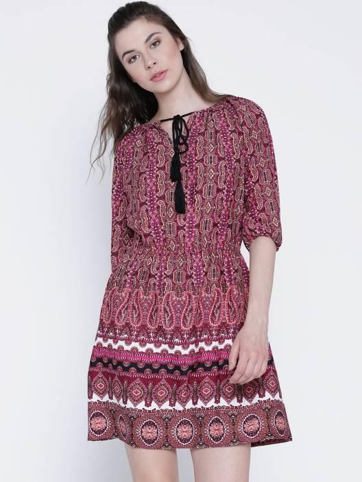 91d15b94f0 Sera Women Gathered Pink Dress - Buy Sera Women Gathered Pink Dress Online  at Best Prices in India | Flipkart.com