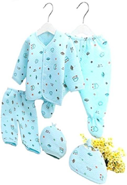 bdf6c6b846e5a Guru Kripa Baby Products ??? Presents New Born Baby Winter Wear Keep warm  Cartoon Printing Baby Clothes 5Pcs Sets ...