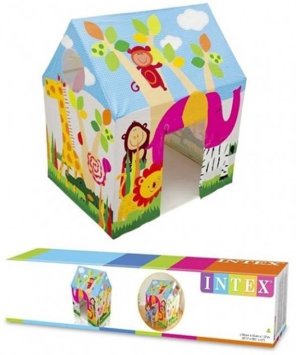 Intex Jungle Fun Cottage Tent House 45642 Wire Frame Multicolor