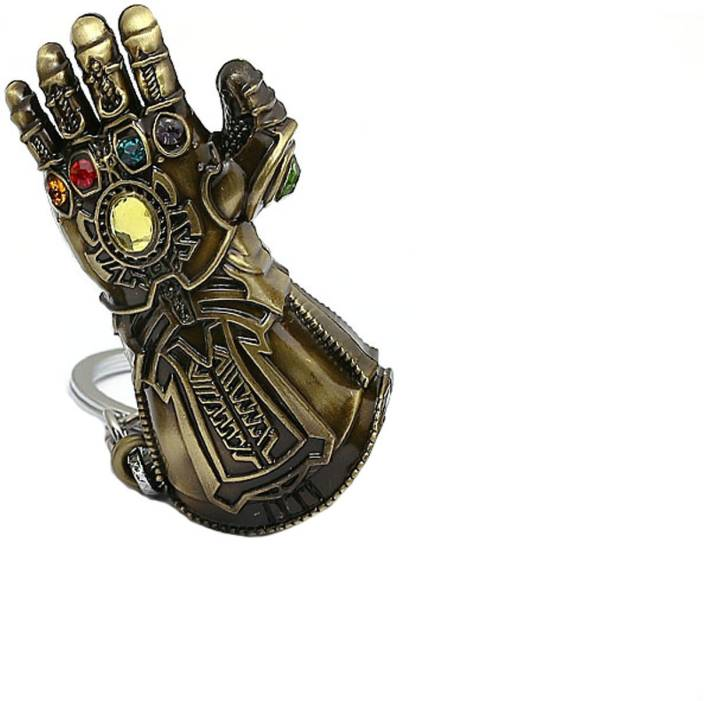 Techpro Avengers Infinity War Golden Thanos Hand With Infinity Stone Avi Pin Badges With Thanos With Stones Combo Pack Key Chain Price In India Buy