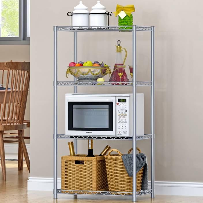 FurnCentral Metal Kitchen Cabinet