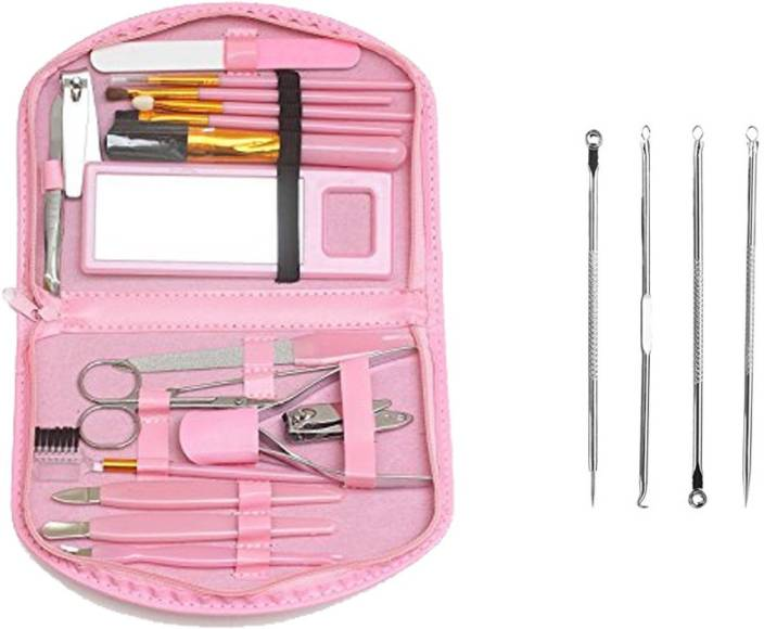 Fully Manicure & Pedicure Grooming Accessories Kit For Women & Girls +Free Blackhead Remover Tool Kits