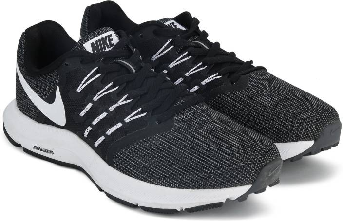 67a3b7b442be Nike RUN SWIFT Running Shoes For Men - Buy BLACK   WHITE - DARK GREY ...