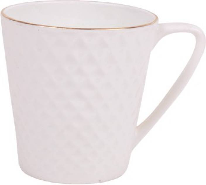 Bp Bharat Mug Pride Gl 110 Bone China White Gold Pack Of 6