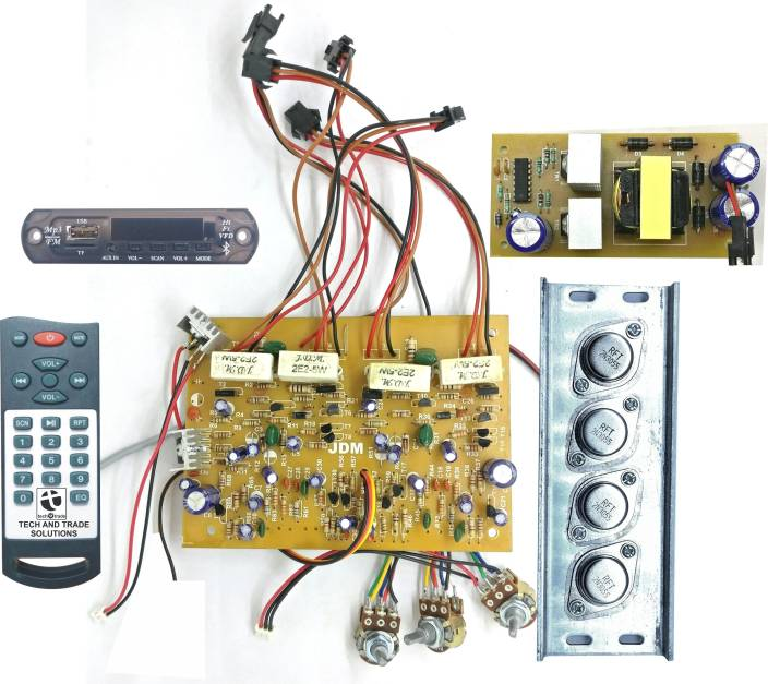 tech and trade 300w diy 2n3055 transistor based stereo audio tech and trade 300w diy 2n3055 transistor based stereo audio amplifier board bluetooth module 24v dc supply kit price in buy tech and trade 300w diy