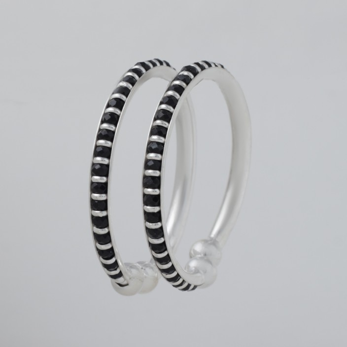 Silver Bangle Feature Hallmark Solid Silver Adjustable Sterling Silver Ladies