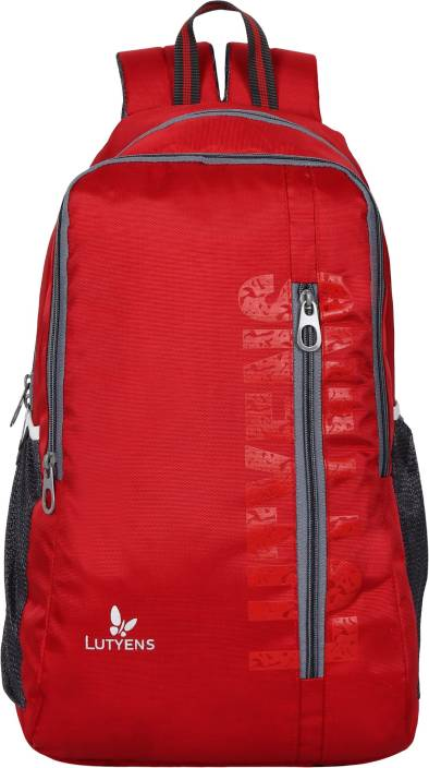 16cde3d0b2 Lutyens Red Spacious School Bag   Casual Backpack (31L) (Lutyens 1019) …  Waterproof School Bag (Red