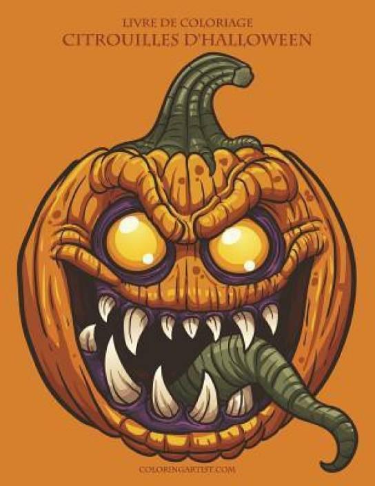 Livre De Coloriage Citrouilles D Halloween Buy Livre De