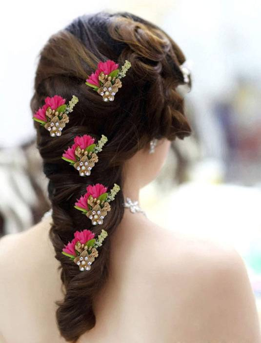 Aasa Flower Hair Pins For Girls Hair Juda Pins Hair Style Pins