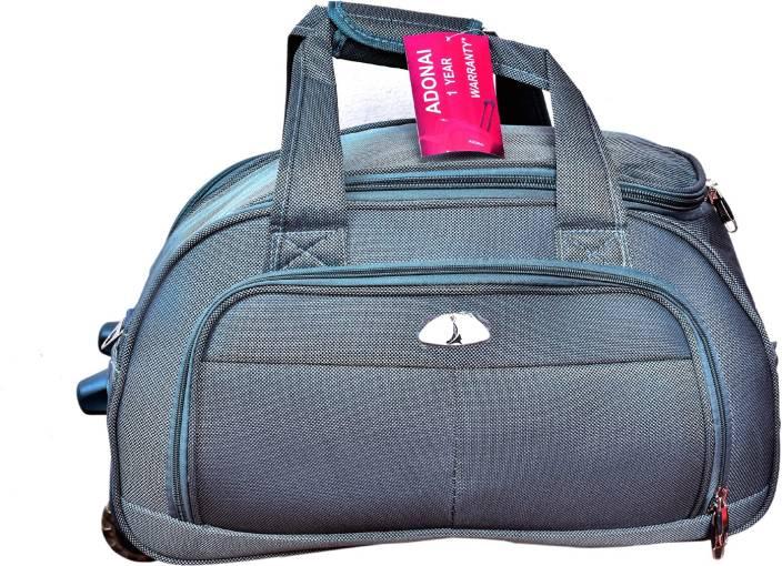 Adonai 24DUFGREY Duffel Strolley Bag