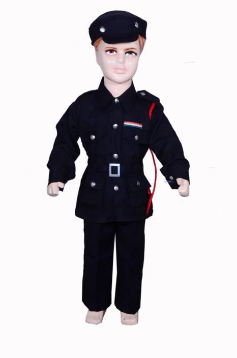 Anmol Dresses Ad Black Commando Fancy Dress For Kids Black Commando