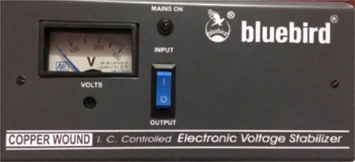11dc258ac09d Blue Bird 1KVA 130-280V Economy Voltage Stabilizer Price in India ...