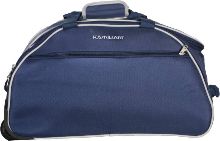 3426fed410e Kamiliant Alps Wheel on Duffle 52 cm (Blue) Duffel Strolley Bag Blue ...
