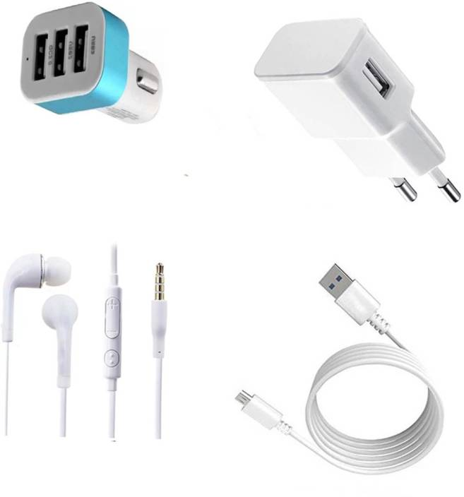 DAKRON Wall Charger Accessory Combo for VIVO Y71 Price in
