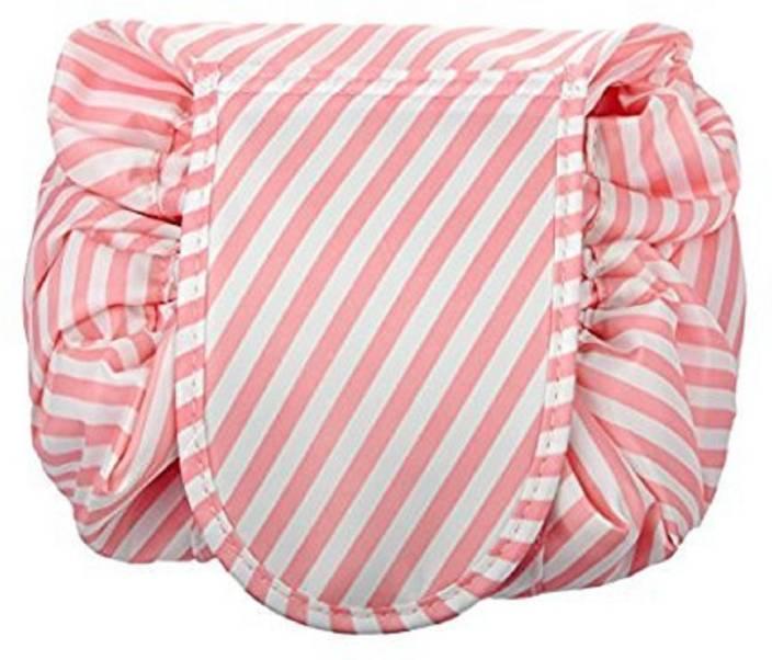 547524d7df Saiyam Travel Flat Makeup Bag drawstring cosmetic bag Cosmetic Bag (Pink