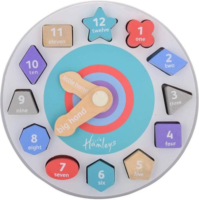 Hamleys Wooden Teaching Time Clock Price in India - Buy Hamleys