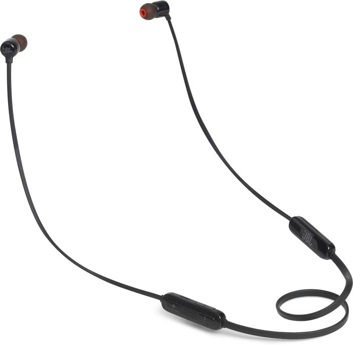 b2dc9bab633 JBL T110BT Wireless Pure Bass Bluetooth Headset with Mic (Black, In the Ear)