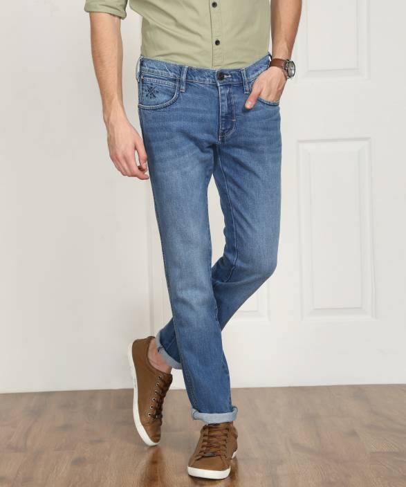 09f710ba Wrangler Jakov Slim Men's Light Blue Jeans - Buy JSW-MID WASH ...