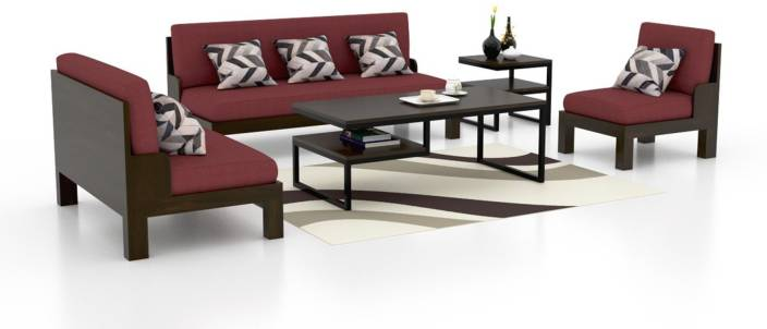 Fine Funterior Fabric 3 2 1 Natural Sofa Set Price In India Pabps2019 Chair Design Images Pabps2019Com