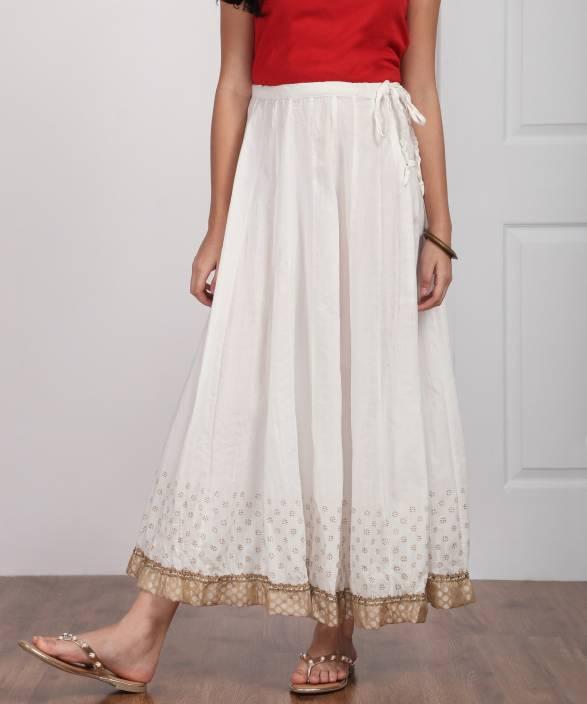 f9ef641e94 Biba Solid Women's Regular White Skirt - Buy OWHT Biba Solid Women's  Regular White Skirt Online at Best Prices in India   Flipkart.com