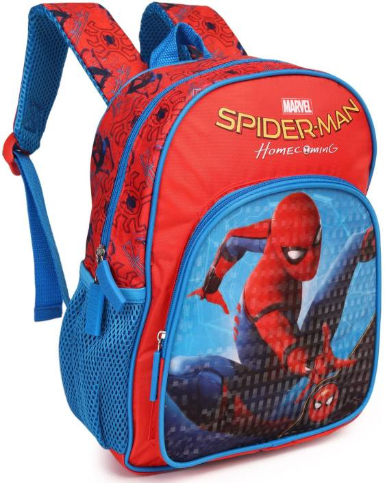 cb7884e7707 Marvel Spiderman Homecoming (Swing) 12 inch School Bag (Red, Blue, 10 L)