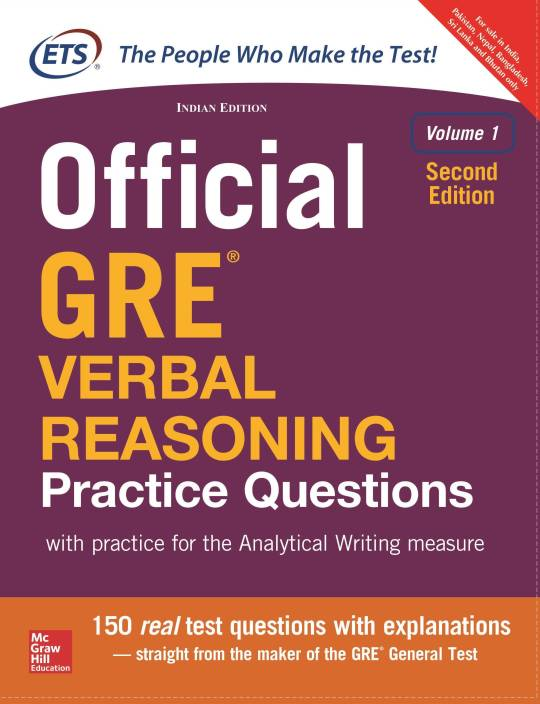 Official GRE Verbal Reasoning Practice Questions(Volume - 1) : With Practice for the Analytical Writing Measure Second Edition
