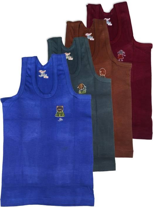 Rupa Jon Kids Vest For Boys Cotton