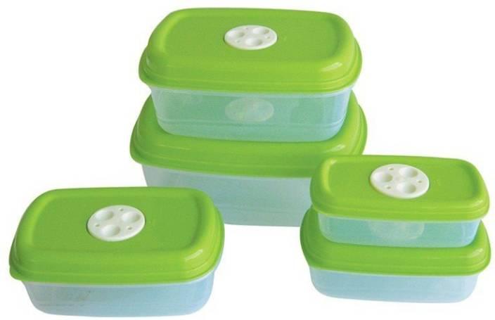 Princeware Microwave Safe 5 Pcs Container Set - 2 85 L, 1 8