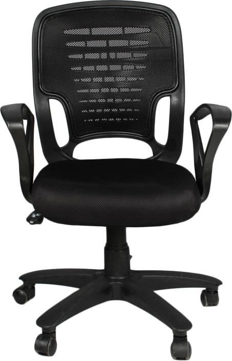 5613abfbb APEX CHAIRS APEX CHAIRS GALAXY MEDIUM BACK UMBRELLA BASE OFFICE CHAIR  Fabric Office Executive Chair (Black)