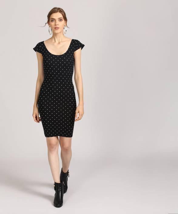 17bddb1fe81 Forever 21 Women s Bodycon Black Dress - Buy BLACK IVORY Forever 21 ...