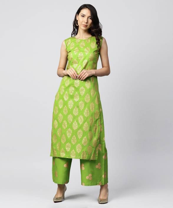 45ff12f093b Nayo Women s Kurta and Palazzo Set - Buy Nayo Women s Kurta and Palazzo Set  Online at Best Prices in India