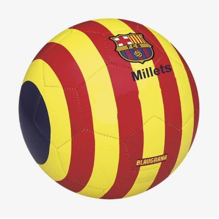 ab6143a4324 millets FC Barcelona BARCA Collection FIFA Approved Football - Size: 5 (Pack  of 1, Red, Yellow)