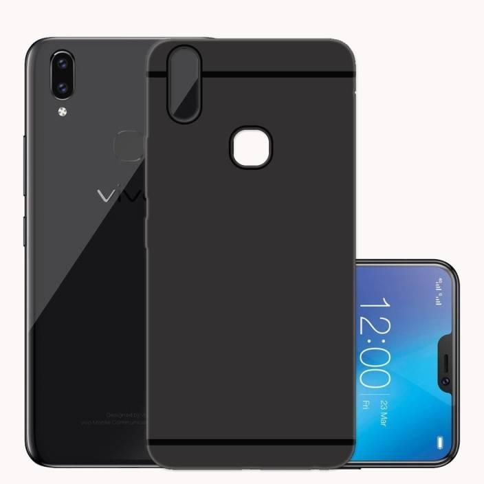 MODIK Back Cover for Vivo V9 Plus Flexible Soft Case (Black, Shock Proof, Silicon, Rubber)