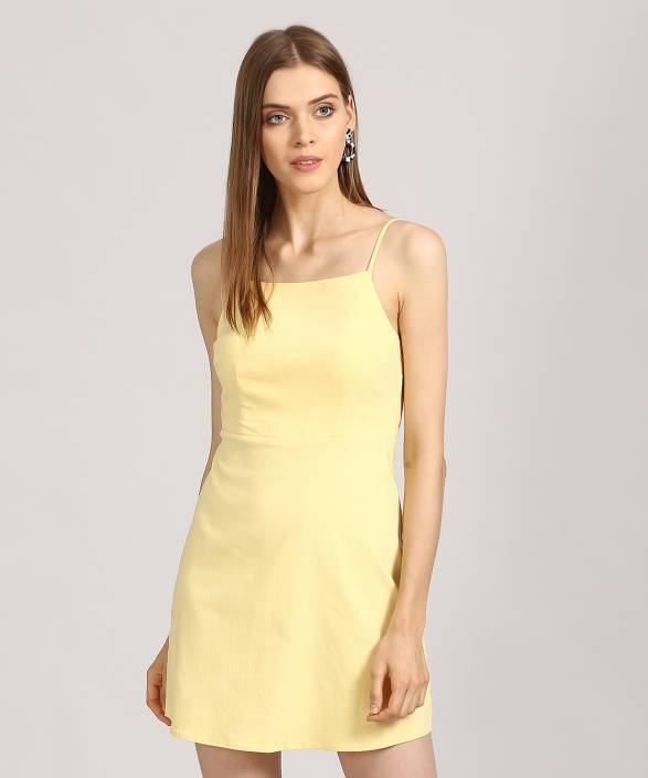 d48f2e9311 Forever 21 Women's A-line Yellow Dress - Buy LIGHT YELLOW Forever 21  Women's A-line Yellow Dress Online at Best Prices in India | Flipkart.com