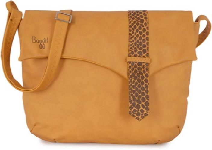Baggit Women Casual Brown Tan Pu Sling Bag Mango Price In India