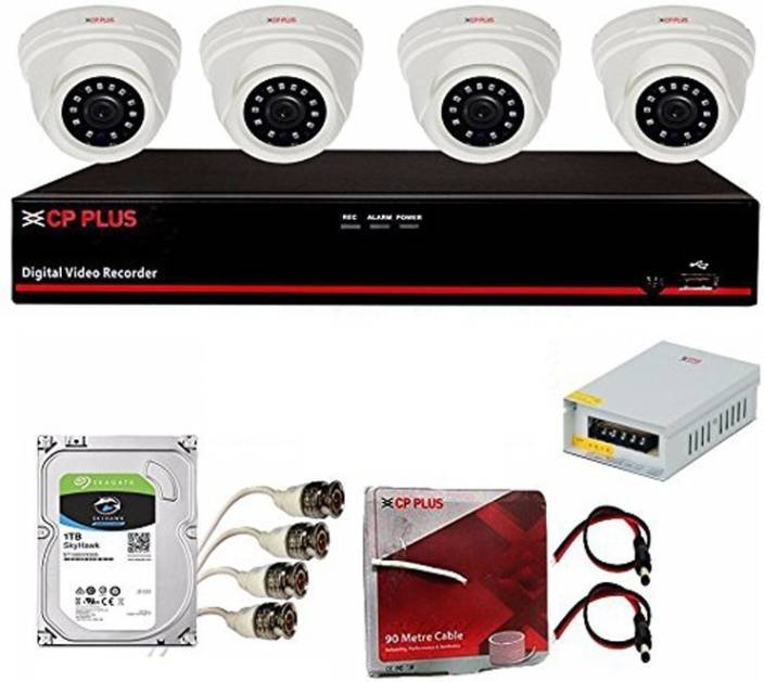 Cp Plus Full 2 4MP CCTV Combo Set Kit Security Camera