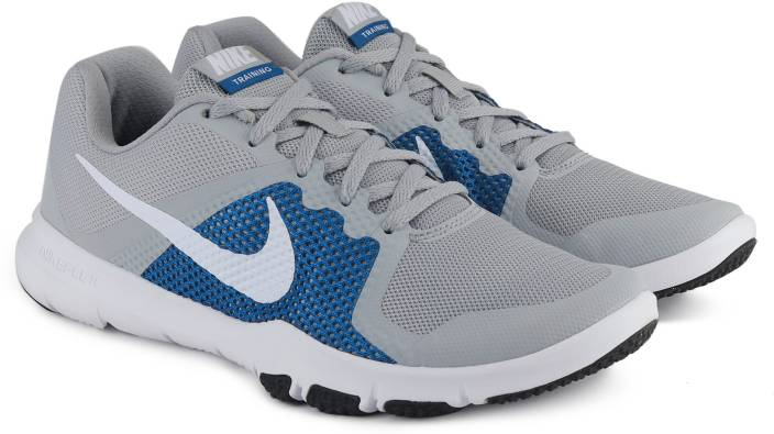aa10336823709 Nike FLEX CONTROL Training Shoes For Men - Buy WOLF GREY WHITE-BLUE ...