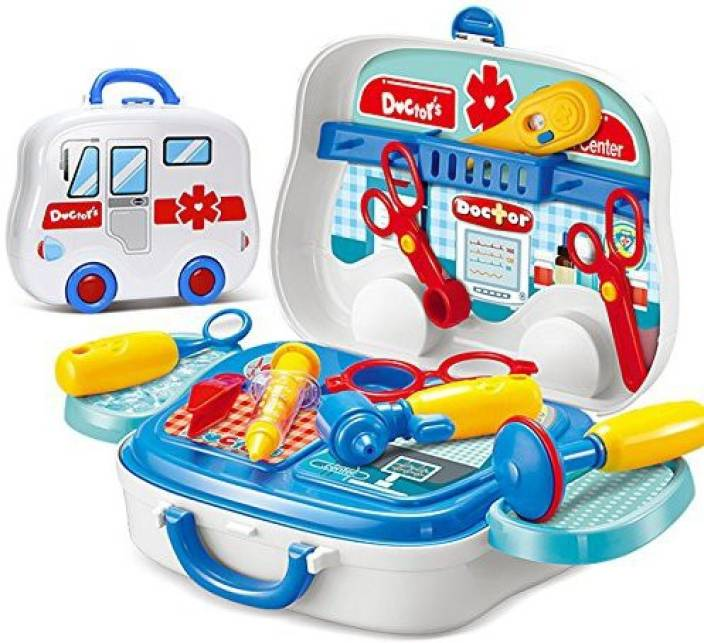 Rianz Doctor Kit Pretend Play Doctor Play Set Medical Carry Case Educational Toy Birthday Gift For Kids
