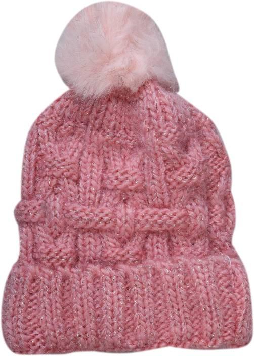 a4dfa8375 ZACHARIAS Woven Woolen Pom Pom With Fur Cap - Buy ZACHARIAS Woven ...