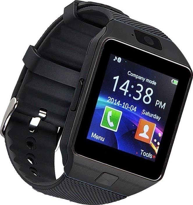 ce15f8dd4 ALONZO Bluetooth Dz09 Smart Watch Compatible with All 3G, 4G Phone with  Camera and Sim Card/ Tf Card Support Black Smartwatch (Black Strap Free  Size)