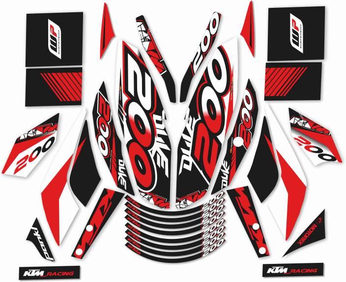 387ac7dc3a6e CR Decals Designs KTM DUKE 200 Motorcycle Design Sticker Price in ...