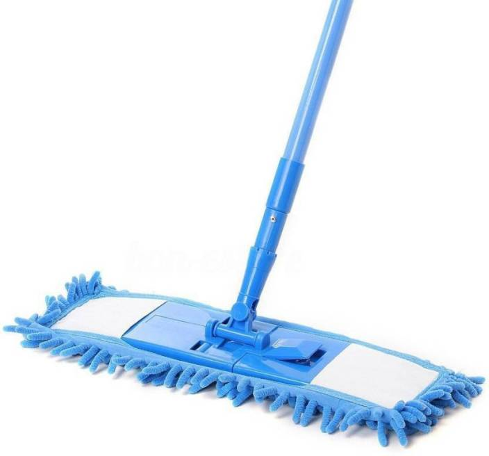 Buram Floor Cleaner Home Cleaning Supply Flat Mop Microfiber Chenille Wet Dust Mop Wet Dry Mop