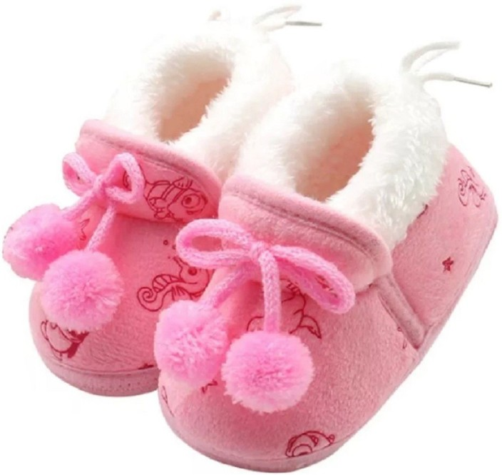 Toddler Baby Girl Boy Button Cartoon First Walker Soft Sole Shoes Lovely