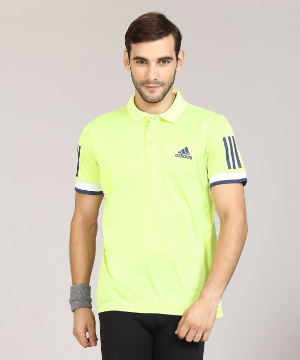 abc3ed4c5 ADIDAS Solid Men Polo Neck Light Green T-Shirt - Buy ADIDAS Solid Men Polo  Neck Light Green T-Shirt Online at Best Prices in India | Flipkart.com