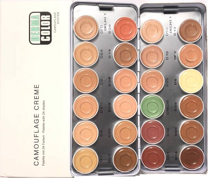 2306e287ba Kryolan Derma Color Camouflage Cream Palette 24 Colors Delhi-1 Concealer